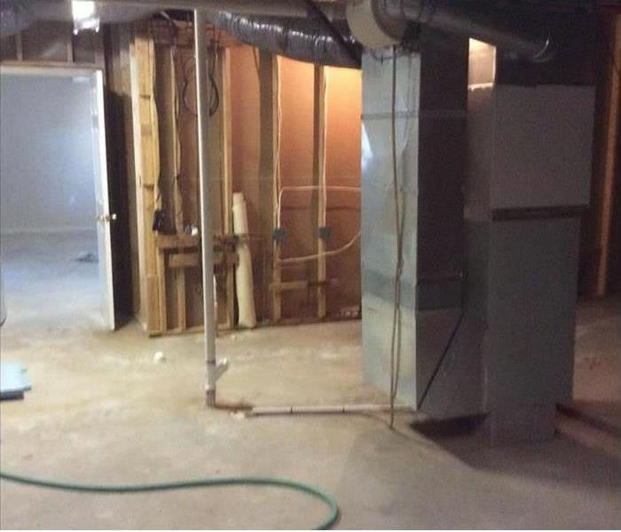 Basement cleared of water and dried